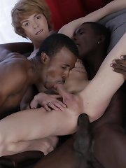 Cute Blond Twink Gets A Double-Penetration Cocktail & A Face-Load Of Black Jizz!